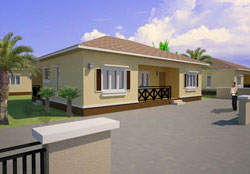 3-Bedroom Bungalo Rendering